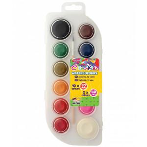 Acuarele semi-uscate 12 cul. set Colour KIDS