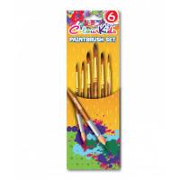 Pensule 6/set vârf ascuțit nr.2/4/6/8/10/12 Colour Kids