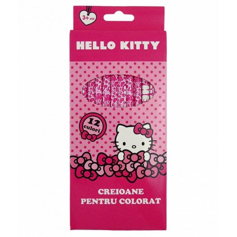 Creioane Color HELLO KITTY 12 buc
