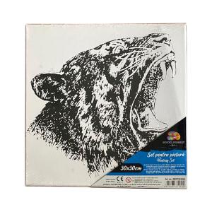 Pânză SF ART pre printată șasiu lemn 16x25cm, 30x30cm Felină
