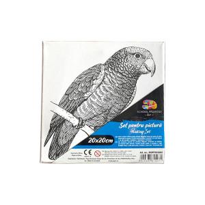 Pânză SF ART pre printatâ șasiu lemn 16x25cm, 20x20cm Papagal