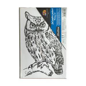 Pânză SF ART pre printată șasiu lemn 16x25cm, 20x30cm Bufniță