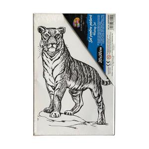 Pânză SF ART pre printată șasiu lemn 16x25cm, 20x30cm Tigru