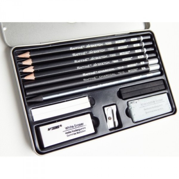 Set de creioane Black Box Marco 7900AS