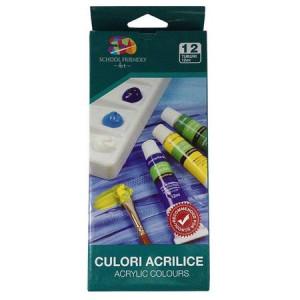 Tempera 12 culori/set, culori acrilice
