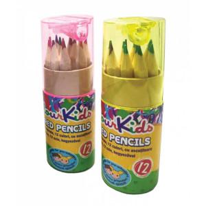 Creioane Color CK PREȘCOLARI 12 buc. corp natur cu ascuțitoare Colour KIDS