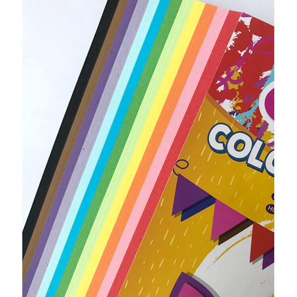 Carton color A4 160gr 120 coli 12 culori Colour Kids