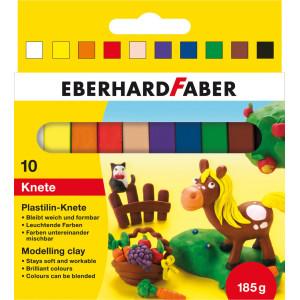 Plastilină 10 culori 185gr Eberhard Faber