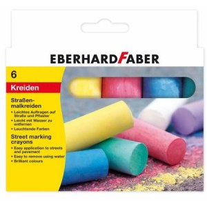 Cretă 6 culori desen asfalt EberhardFaber