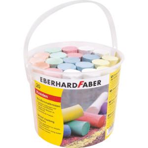Cretă 20 buc. desen asfalt găletușă EberhardFaber