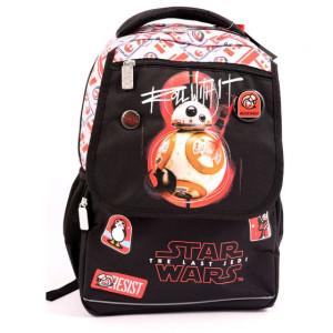 Ghiozdan clasa 1/4 negru-rosu, Star Wars Ep. VIII