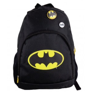 Ghiozdan Gimnaziu Simplu Negru Batman