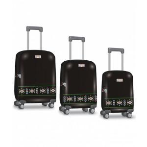 Valiză troller set 3 buc. 49/59/69cm ABS+TSA ETHNO Mod 5