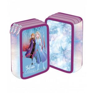 Penar 3 fermoare albastru-violet Frozen 2