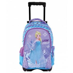 Troller școlar clasa 1/4, albastru-violet Frozen