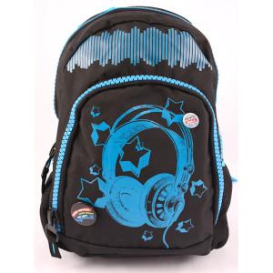 Ghiozdan teens negru-albastru Soundwave