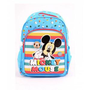 Ghiozdan Pregătitoare albastru-multicolor Mickey
