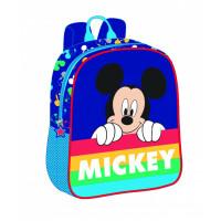 Mini-ghiozdan preșcolari albastru-multicolor Mickey Mouse