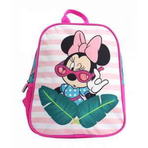Mini-ghiozdan preșcolari roz-verde Minnie Mouse