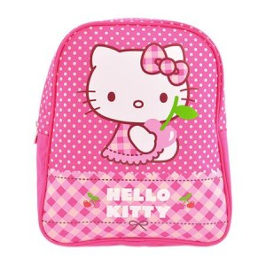 Mini Ghiozdan Hello Kitty Grădiniță buline Roz