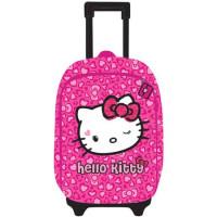Ghiozdan Hello Kitty Troler 2 fermoare, Roz