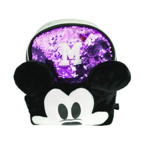 Mini ghiozdan Mickey paiete violet