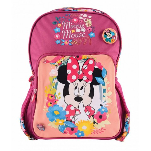 Ghiozdan clasa pregătitoare Minnie Mouse roșu
