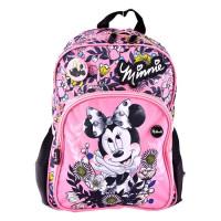 Ghiozdan clasa pregătitoare, roz-negru, Minnie