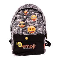 Ghiozdan Teens, negru, Emoji iconic