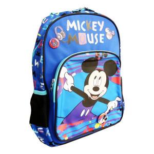 Ghiozdan clasa pregătitoare, albastru multicolor, Mickey