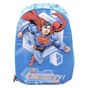 Ghiozdan clasa 1/4, 3D, 1 fermoar, Albastru Superman