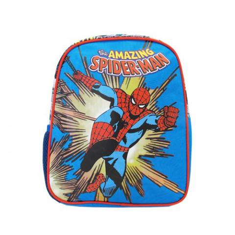 Mini ghiozdan grădiniță albastru, Spiderman