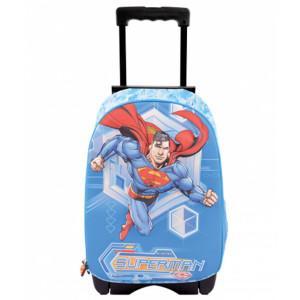 Ghiozdan Troler, clasa 1/4, 3D, 1 fermoar, Superman