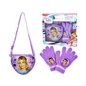 Set cadou gentuță inimioară și mănuși Violetta