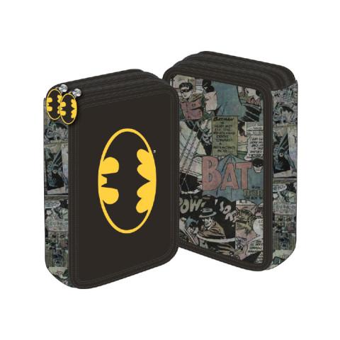 Penar neechipat 2 fermoare, negru vintage Batman