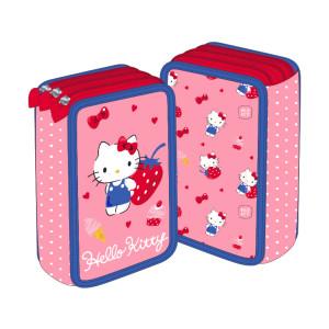 Penar 3 fermoare roz căpșuni Hello Kitty