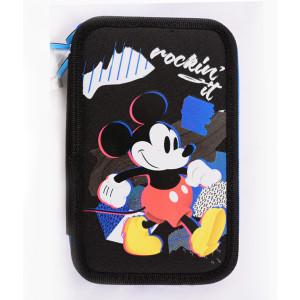 Penar Neechipat, 3 fermoare, albastru-negru Mickey