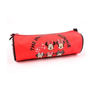 Penar Etui Tubular, negru-roșu, Minnie Mouse