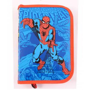 Penar neechipat 1 fermoar, 2 extensii Spiderman Bleu