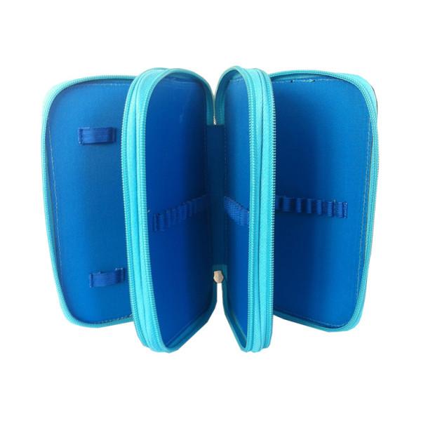 Penar Neechipat, 3 fermoare, albastru verde Mickey Mouse