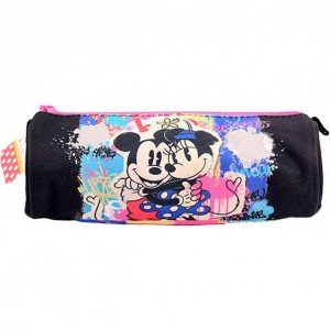 Penar Etui Tubular negru-color, Minnie