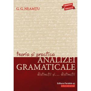 Teoria și practica analizei gramaticale. Distincții și… distincții