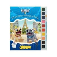 Prietenii Cățeluși. Să Pictăm Cu Bingo și Rolly. Carte de colorat cu pensulă și acuarele