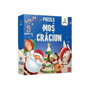Moș Crăciun. Puzzle educativ