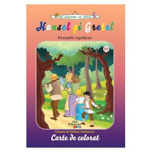 Hansel și gretel. Poveștile copilăriei - Carte de colorat