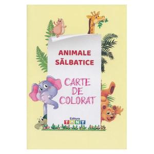Animale sălbatice. Carte de colorat