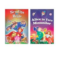 2 Povești: Scufița roșie și Alice în Țara minunilor