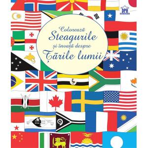 Colorează steagurile și învață despre țările lumii