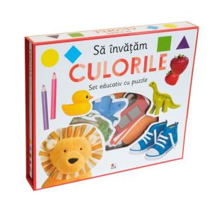 Să învățăm culorile. Set educativ cu puzzle