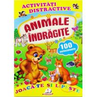 Animale îndrăgite + 100 autocolante – Joacă-te și lipește